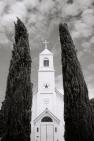 chapel & trees