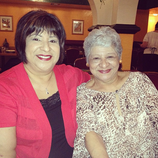 Mom & Grandma yesterday at lunch. Aren't they beautiful!?