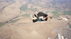 13,000 ft in the air with nothing but a hot veteran strapped to my back